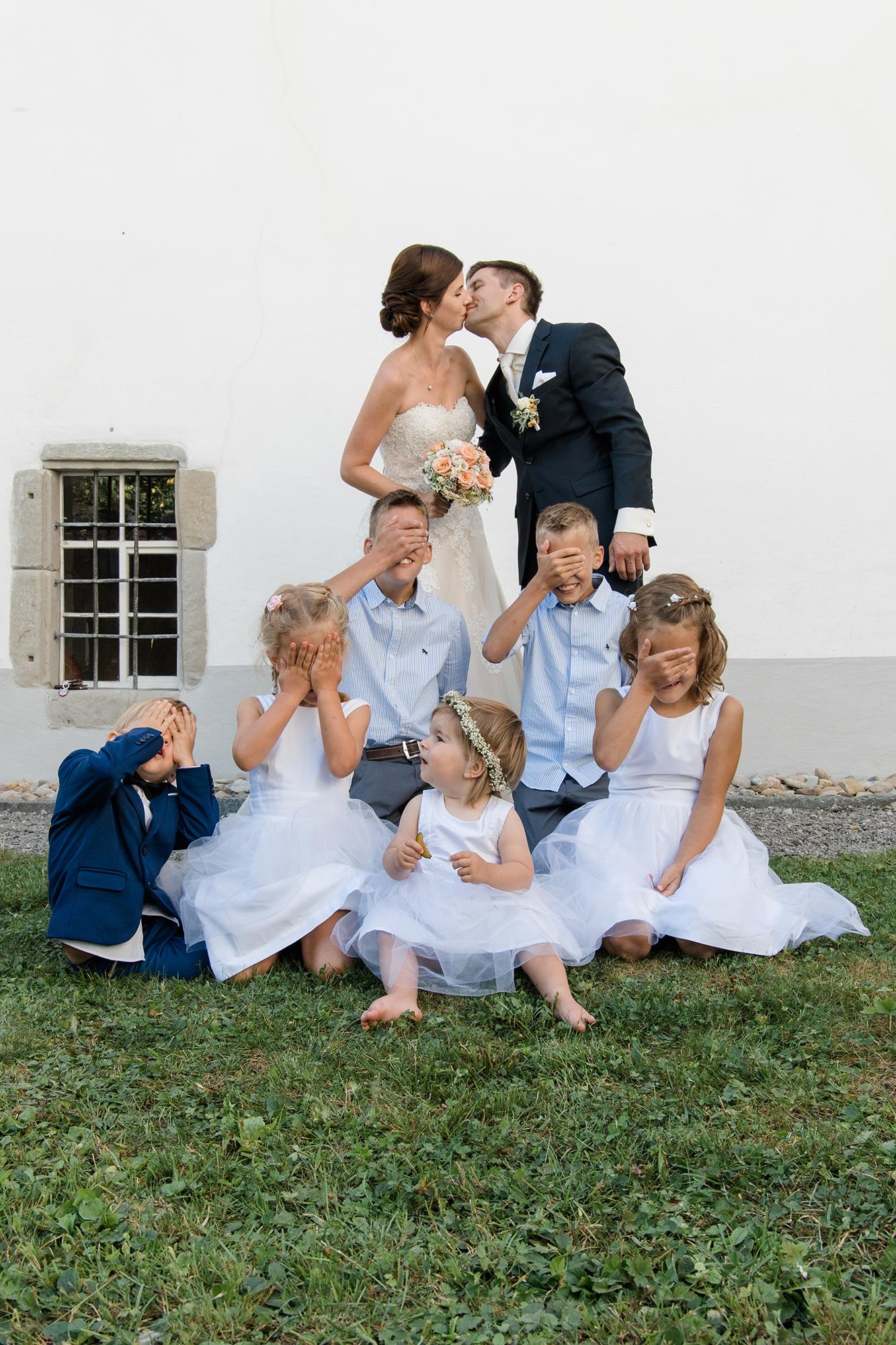 Gruppenfotos Hochzeit